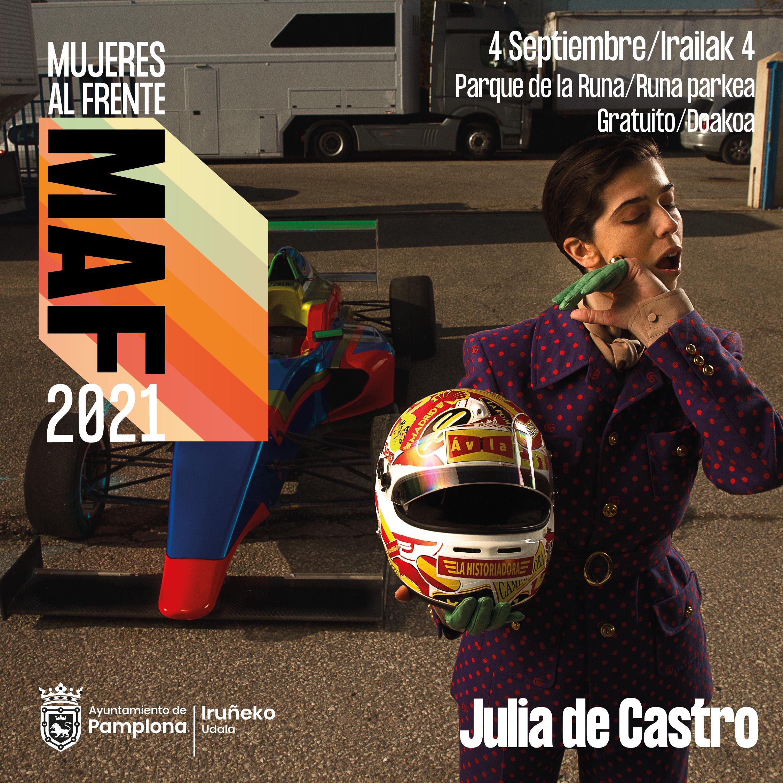 Cartel MAF Julia De Castro 4 de septiembre en Pamplona
