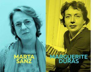 Imagen del ciclo Oh diosas amadas de Marta Sanz y Marguerite Duras de color amarillo.