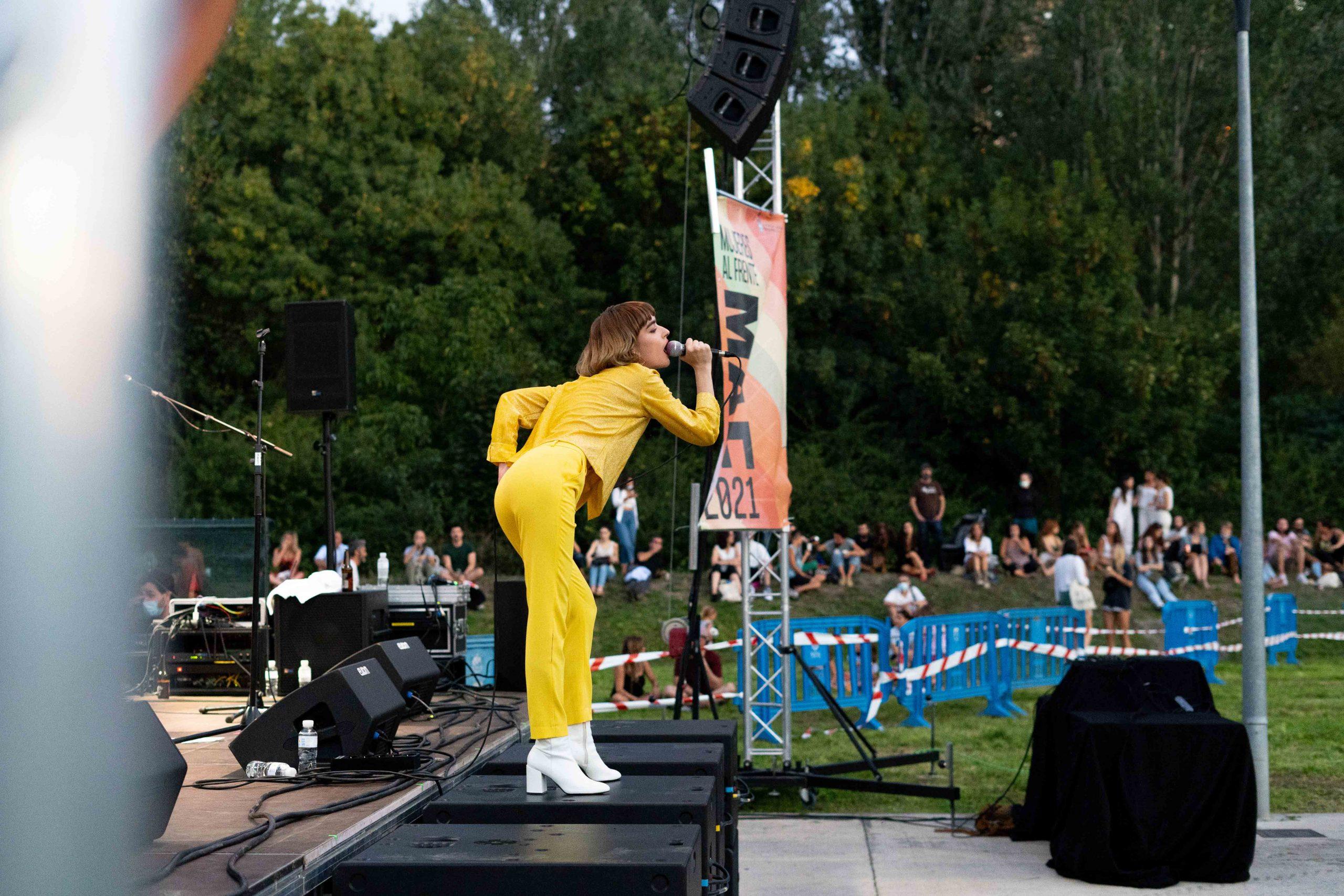 Cintia Lund en su actuación en el MAF 2021 en Pamplona.