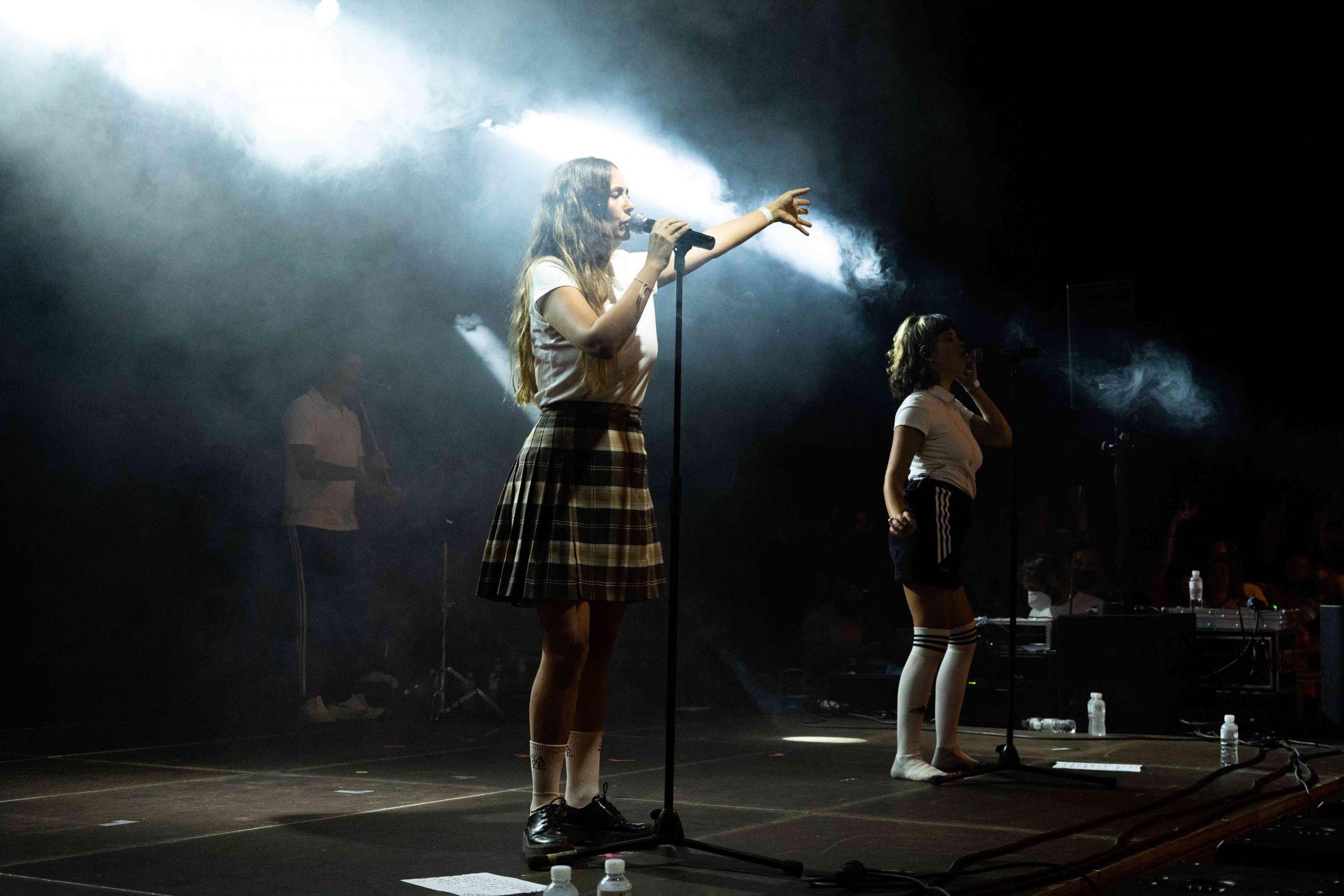 Rigoberta Bandini con su banda durante en MAF 2021 en Pamplona