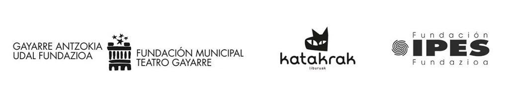 Logos de Teatro gayarre, Katakrak y Fundación Ipes